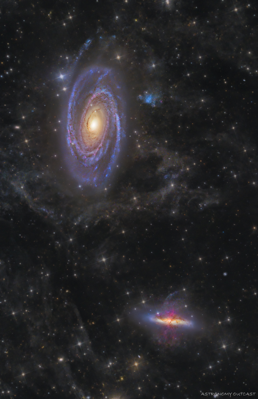 Le duo M81 & M82 - T300 - Hypercam 294C